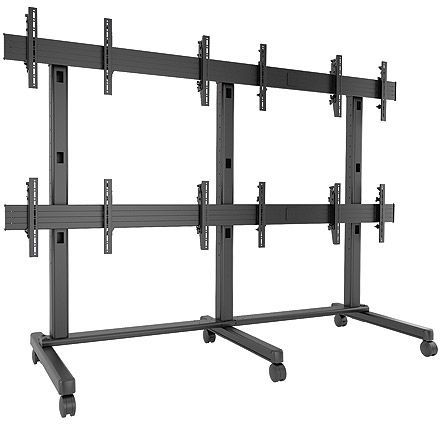 Chief® FUSION™ Black 3 x 2 Large Freestanding Video Wall Cart-LVM3X2U
