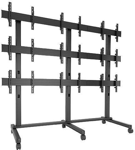 Chief® FUSION™ Black 3 x 3 Large Freestanding Video Wall-LVM3X3U