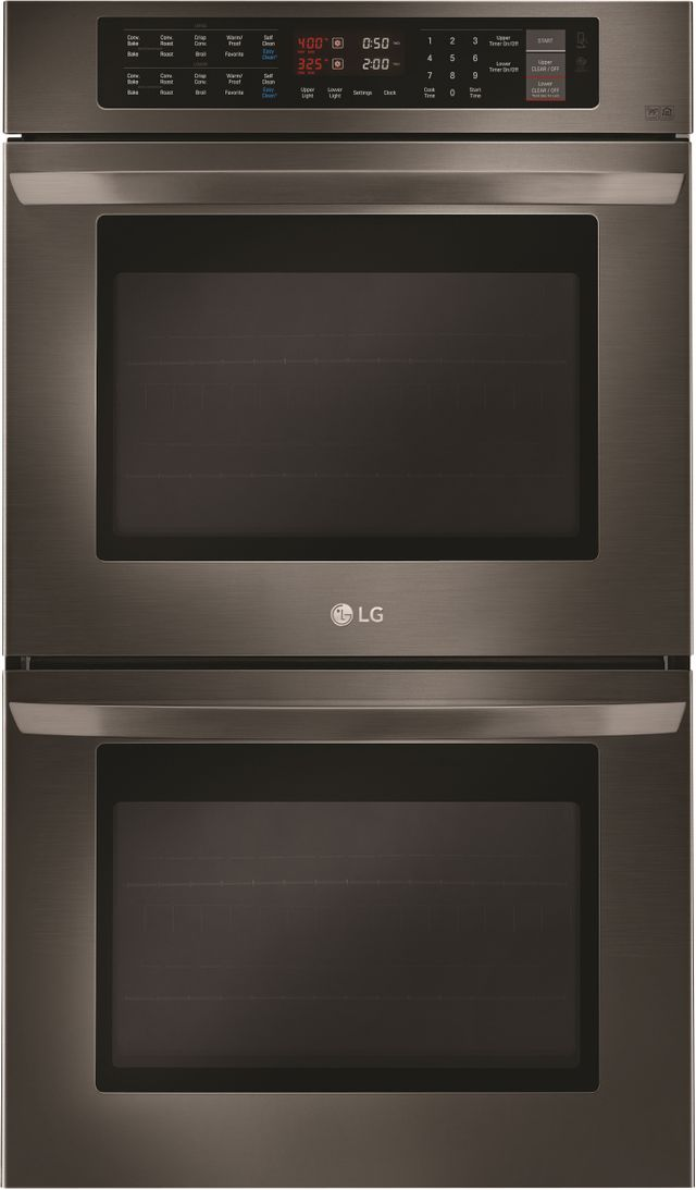 """LG 29.75"""" Black Stainless Steel Electric Double Oven Built In-LWD3063BD"""