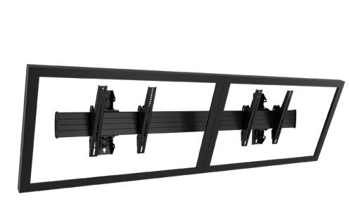 Chief® Professional AV Solutions Black Fusion™ Large Wall Mount-LWM2X1U