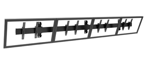 Chief® Professional AV Solutions Black Fusion® Large Wall Mount-LWM4X1U