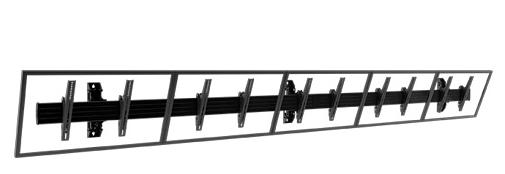 Chief® Professional AV Solutions Black Fusion® Large Wall Mount-LWM5X1U