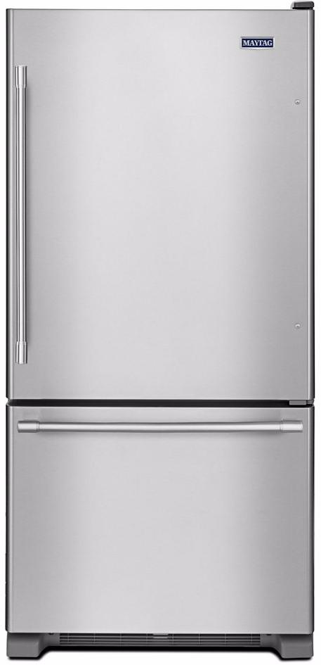 Maytag® 18.67 Cu. Ft. Fingerprint Resistant Stainless Steel Bottom Freezer Refrigerator-MBF1958FEZ