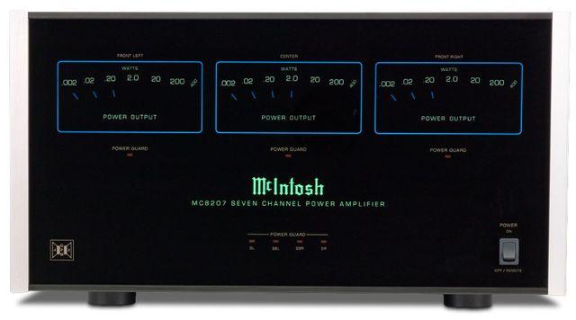 McIntosh® Seven Channel Power Amplifier-Black-MC8207