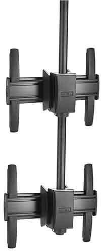Chief® FUSION™ Black Medium 1 x 2 Ceiling Mount-MCM1X2U