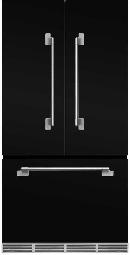 AGA Elise 22.1 Cu. Ft. Counter Depth French Door Refrigerator-Gloss Black-MELFDR23-BLK