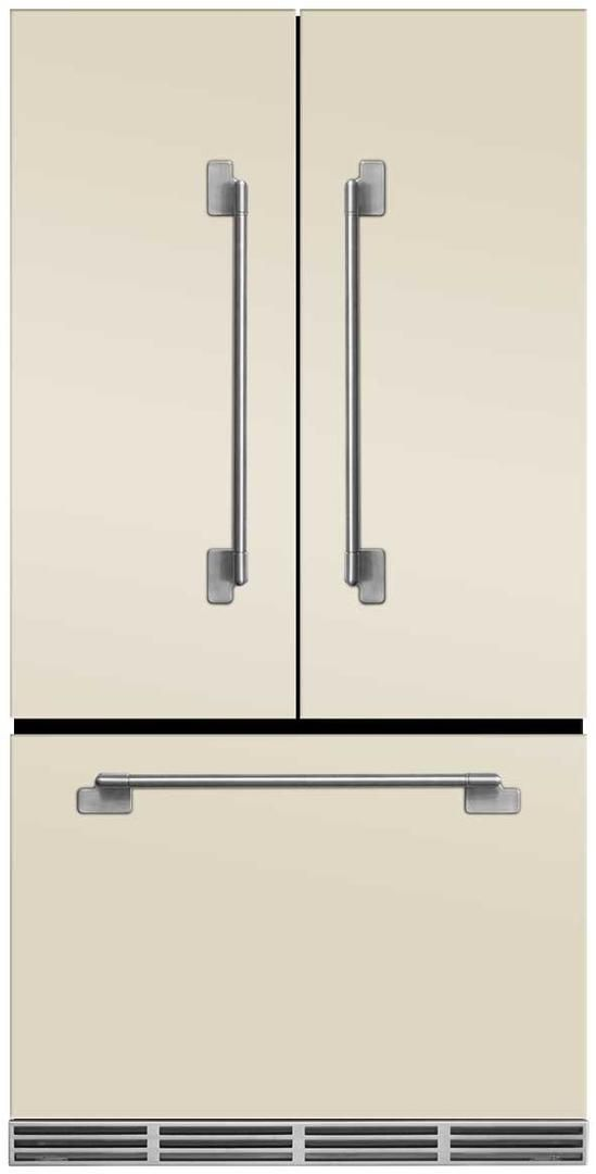 AGA Elise 22.1 Cu. Ft. Counter Depth French Door Refrigerator-Ivory-MELFDR23-IVY