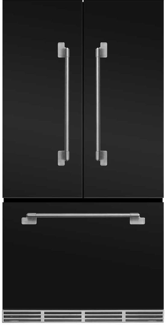 AGA Elise 22.1 Cu. Ft. Counter Depth French Door Refrigerator-Matte Black-MELFDR23-MBL