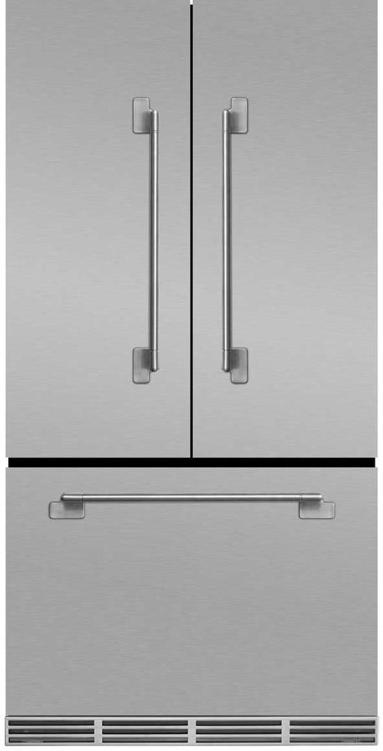AGA Elise 22.1 Cu. Ft. Counter Depth French Door Refrigerator-Stainless Steel-MELFDR23-SS