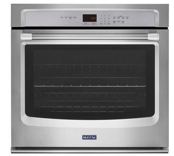 """Maytag 27"""" Electric Single Oven Built In-Stainless Steel-MEW7527DS"""