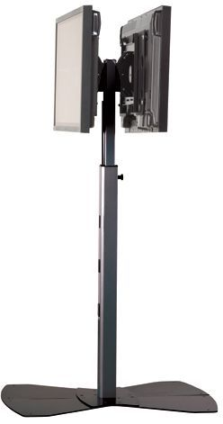 Chief® Black Medium Flat Panel Dual Display Floor Stand-MF26000B