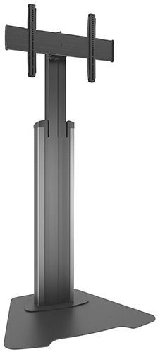 Chief® Silver Medium Fusion™ Manual Height Adjustable Floor AV Stand-MFAUS