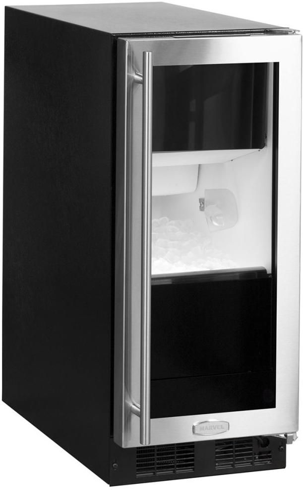 """Marvel 15"""" Clear Ice Machine-Stainless Steel-ML15CPG1RS"""