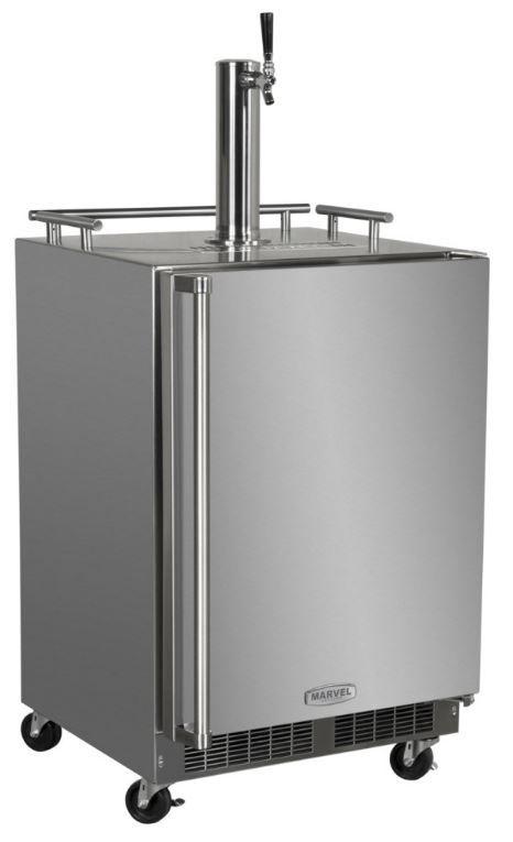 Marvel Outdoor 5.7 Cu. Ft. Stainless Steel Beer Cooler/Kegerator-MO24BSSMRS