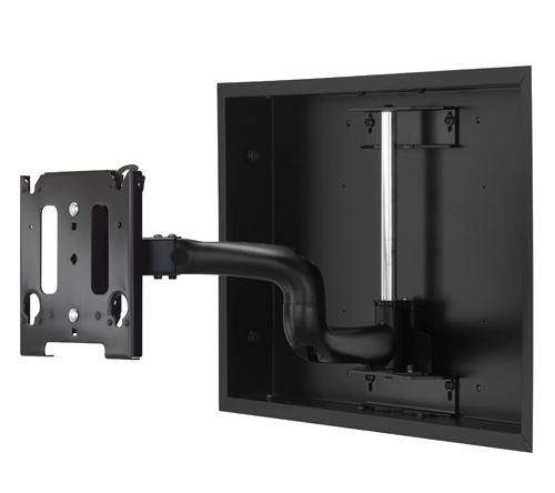 Chief® Professional AV Solutions Black Medium Low Profile In Wall Swing Arm Mount-MWRIW6000B