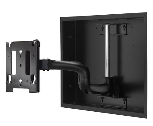 Chief® Manufacturing Black Medium Low-Profile In-Wall Swing Arm Mount-MWRIWUB