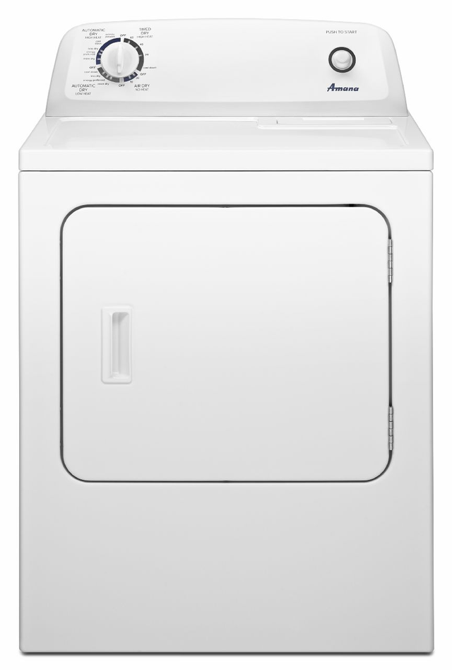 Amana® 6.5 cu. Ft. White Front Load Gas Dryer-NGD4655EW