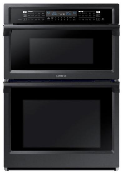 "Samsung 29.88"" Fingerprint Resistant Black Stainless Steel Microwave Combination Wall Oven-NQ70M6650DG"