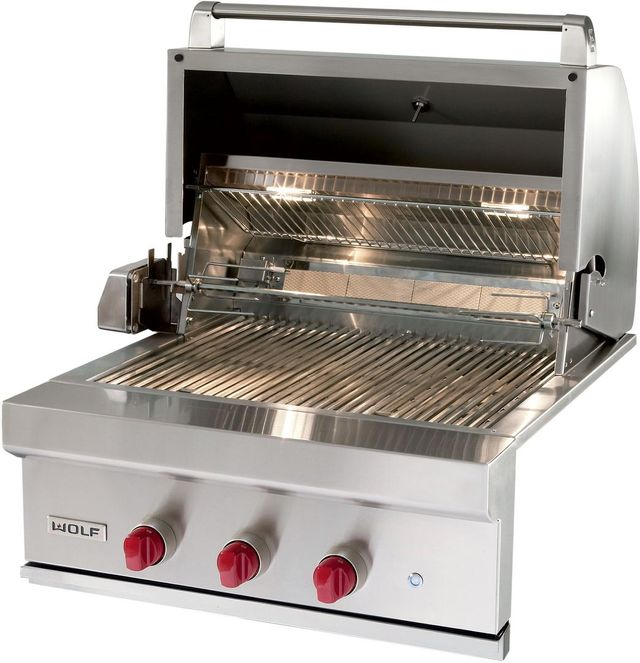 Wolf® Built In Grill-Stainless Steel-OG30