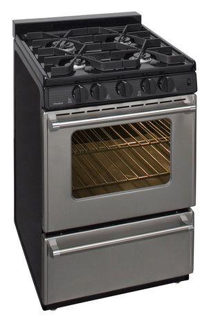 "Premier Pro Series 24"" Free Standing Gas Range-Stainless Steel-P24S3102P"