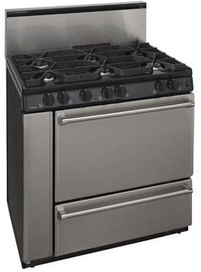"Premier Pro Series 36"" Pro Style Gas Range-Stainless Steel-P36S328BP"