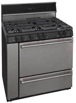 "Premier Pro Series 36"" Pro Style Gas Range-Stainless Steel-P36S348BP"