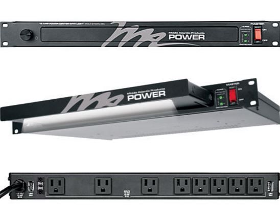 Middle Atlantic Products Inc.® 15A 8 Outlet 2-Stage Surge Rackmount Power/Lighting-PDLT-815RV-RN
