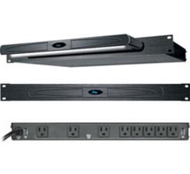 Middle Atlantic Products Inc.® 15A 8 Outlet Rackmount Power/Lighting-PDLT-815RVA