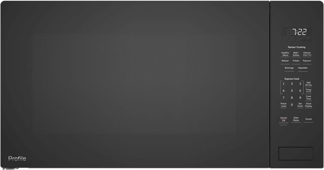 GE Profile™ 2.2 Cu. Ft. Black Built-In Microwave Oven-PEB7227DLBB