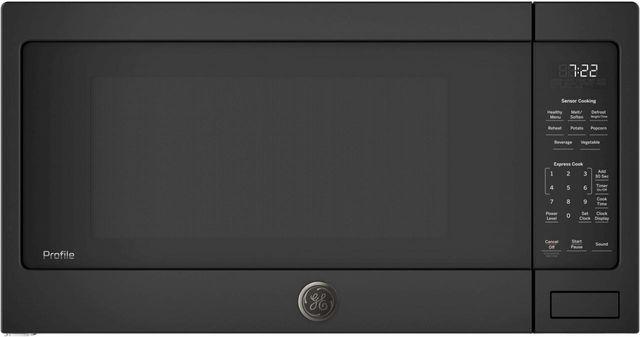 GE Profile™ 2.2 Cu. Ft. Black Countertop Sensor Microwave Oven-PES7227DLBB