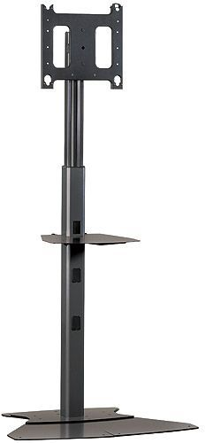 Chief® Black Large Flat Panel Floor Stand-PF12000B