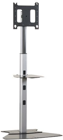 Chief® Silver Large Flat Panel Floor Stand-PF12000S