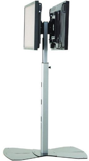 Chief® Silver Large Flat Panel Dual Display Floor Stand-PF22000S