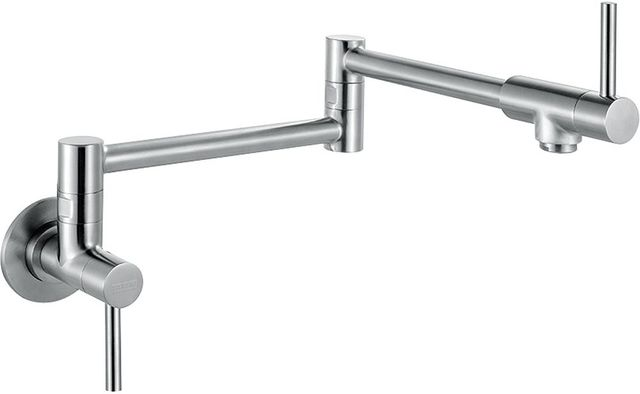 Franke Steel Series Wall Mounted Pot Filler Faucet-Stainless Steel-PF3450