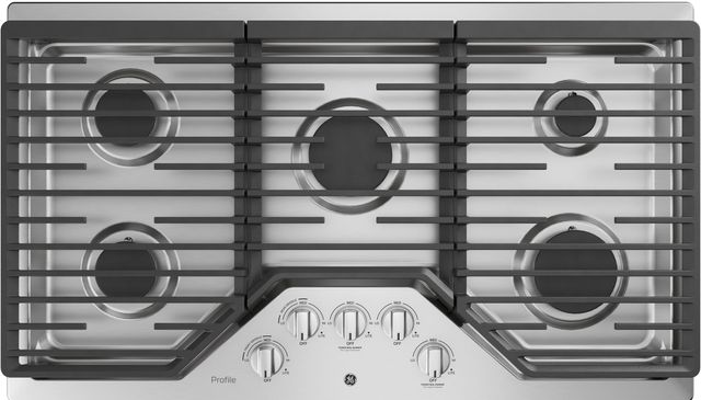 """GE Profile™ 36"""" Stainless Steel Built-In Gas Cooktop-PGP7036SLSS"""