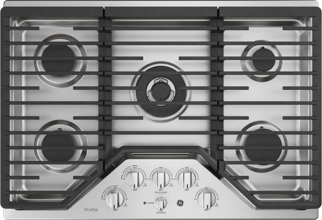 """GE® Profile™ 30"""" Stainless Steel Gas Cooktop-PGP9030SLSS"""
