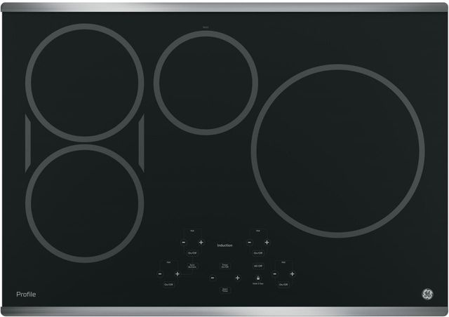 """GE Profile™ Series 30"""" Stainless Steel Built-in Touch Control Induction Cooktop-PHP9030SJSS"""