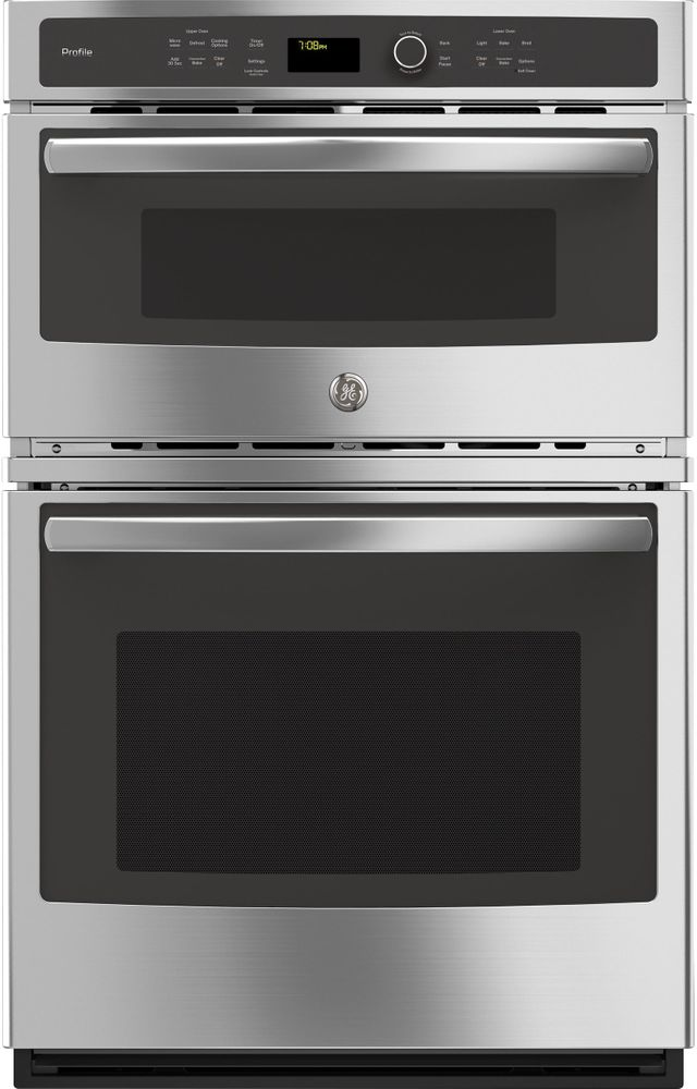 """GE Profile™ 26.75"""" Stainless Steel Built-In Combination Convection Microwave/Convection Wall Oven-PK7800SKSS"""