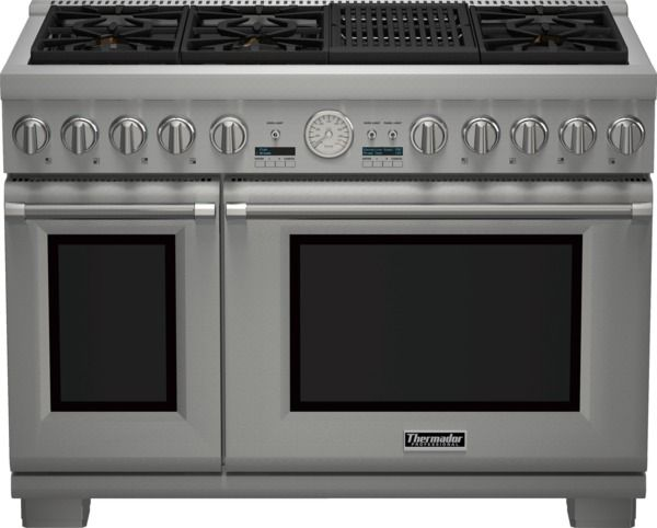 """Thermador® Professional Series Pro Grand® 48"""" Pro Style Dual Fuel Range-Stainless Steel-PRD486NLGU"""
