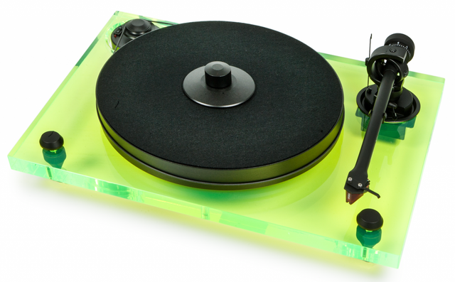 Pro-Ject 2-Xperience Primary Acryl Audiophile Turntable-Clear Acrylic Green-2Xperience Primary Acryl-CLG