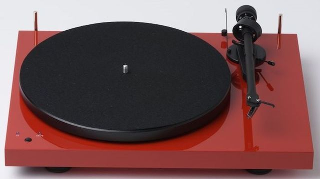 Pro-Ject Debut RecordMaster High Gloss Red Turntable-Debut RecordMaster-RD