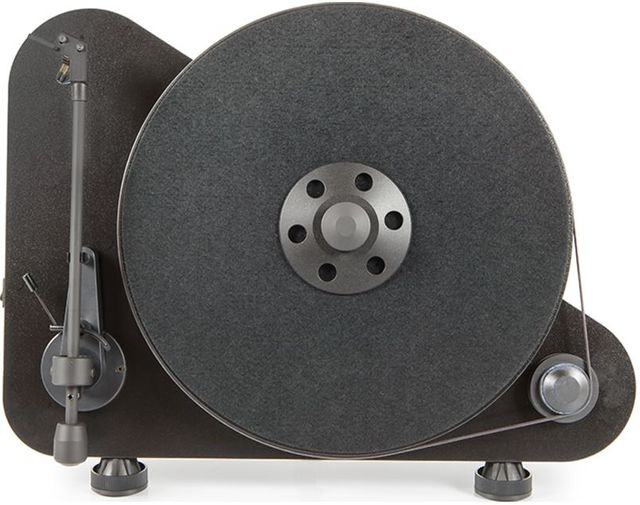 """Pro-Ject Audio Systems Vertical """"Plug&Play"""" Turntable-VT-E-Black"""