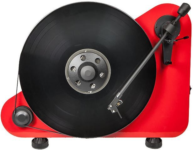 """Pro-Ject Audio Systems Vertical """"Plug&Play"""" Turntable-VT-E-Red"""
