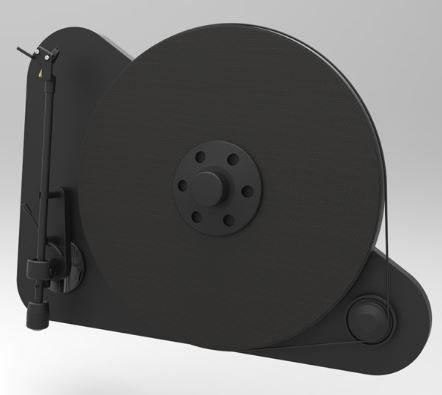 Pro-Ject Black Matte Vertical Plug & Play Turntable-VT-E L