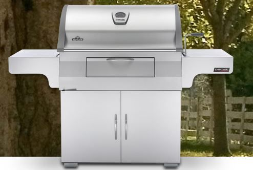 Napoleon® Free Standing Charcoal Grill-Stainless Steel-PRO605CSS