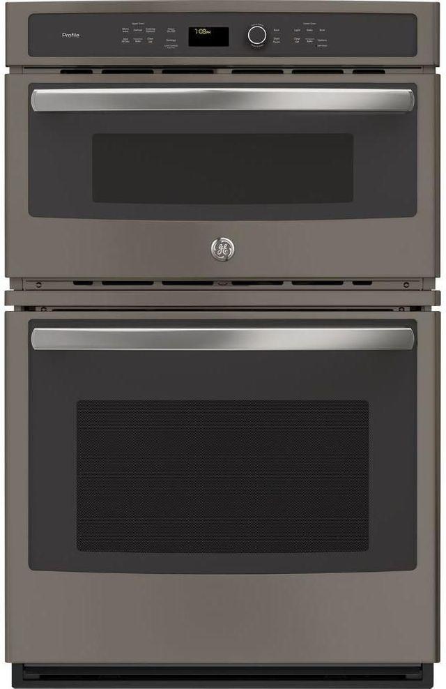 "GE Profile™ 29.75"" Fingerprint Resistant Slate Electric Built In Combination Microwave/Oven-PT7800EKES"