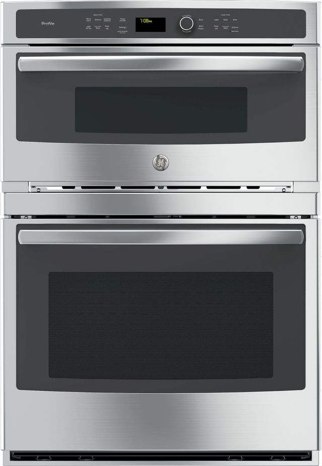 """GE Profile™ 29.75"""" Stainless Steel Electric Built In Combination Microwave/Oven-PT7800SHSS"""