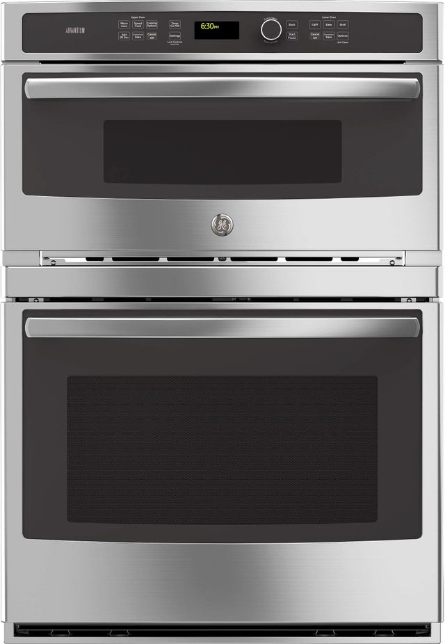 """GE® Profile™ 29.75"""" Stainless Steel Wall Oven/Microwave Combos-PT9800SHSS"""
