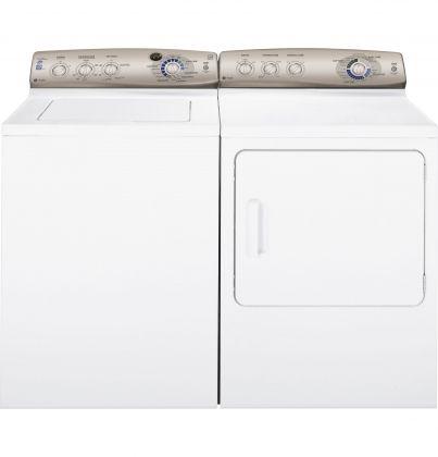 GE Profile Laundry Pair PTWN6050MWT/PTDN600EMWT-PTWN6050MWT/PTDN600EMWT