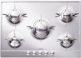 """Smeg 28"""" """"Piano Design"""" Gas Cooktop-Stainless Steel-PU75ES"""